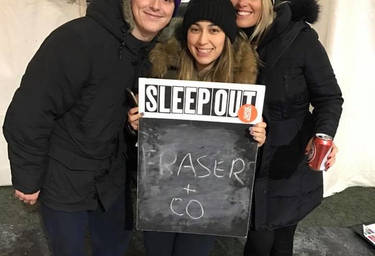 Fraser & Co brave the cold for charity